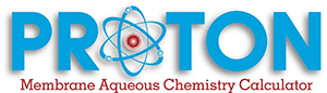 Proton Membrane Aqueous Chemistry Calculator Logo